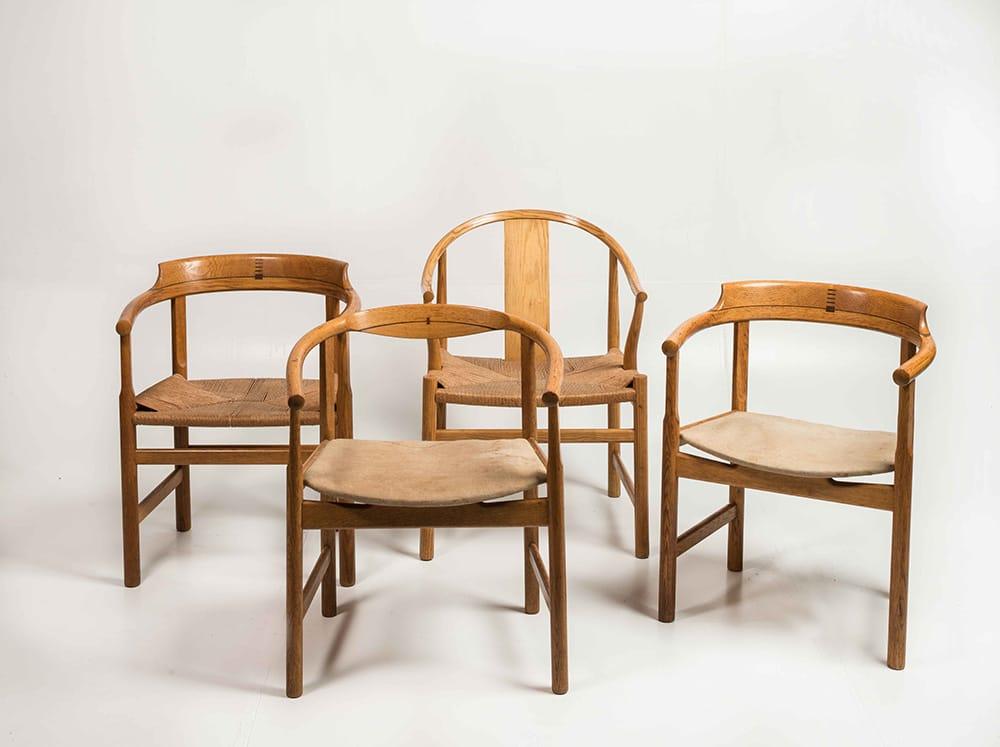 4 Hans Wegner chairs
