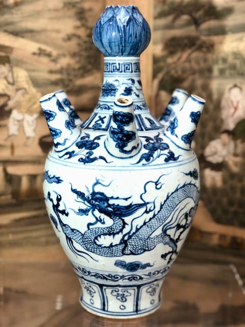 Chinese Blue and White Tulip Vase 19th Century