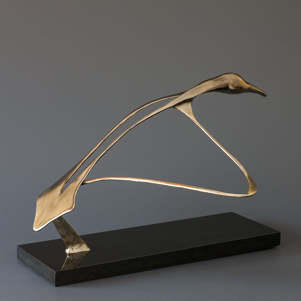 """Flight"" - Bronze sculpture by Antonio Da Silva"