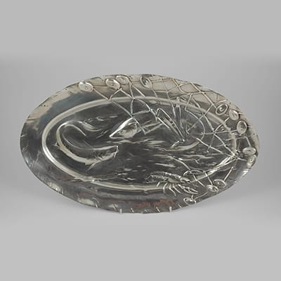 German Art Nouveau fish platter