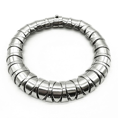 Heavy vintage Silver Mexican choker