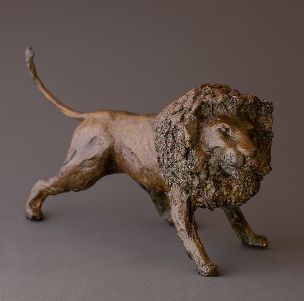 """Lion"" - Bronze sculpture by Antonio Da Silva"