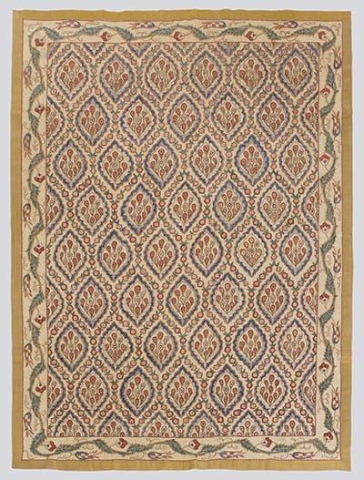 Ottoman Peacock Feathers Suzani