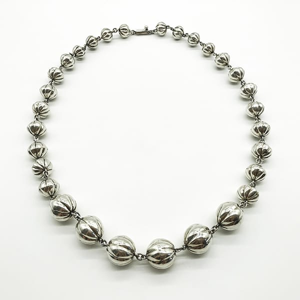 Vintage Mexican Silver bobble necklace