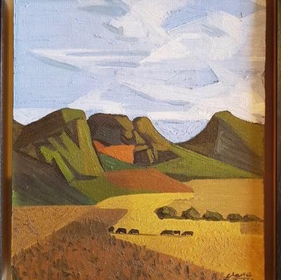 Peter Clarke (SA 1929-2014) Landscape, 24.9.1964